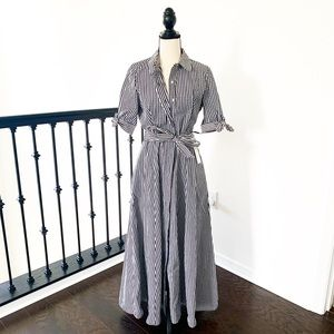 Calvin Klein Mini Check Maxi Dress